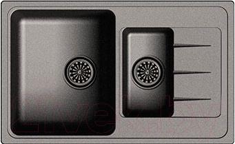 Мойка кухонная Ewigstein Elegant 60KF (черный)