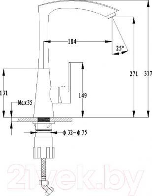 Смеситель Ewigstein 3723504 (серый металлик)