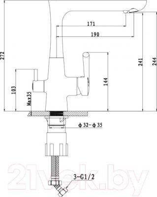 Смеситель Ewigstein 3223515  (черный)