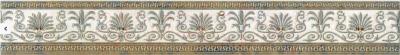 Бордюр для ванной PiezaRosa Граффито 1 267671 (65x450, серый)
