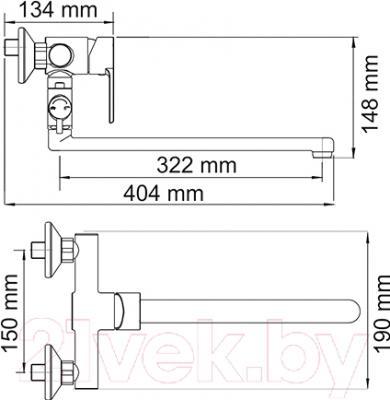 Смеситель Wasserkraft Ammer 3702L - схема