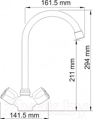Смеситель Wasserkraft Amper 2907 - схема
