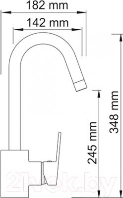 Смеситель Wasserkraft Donau 5347 - схема