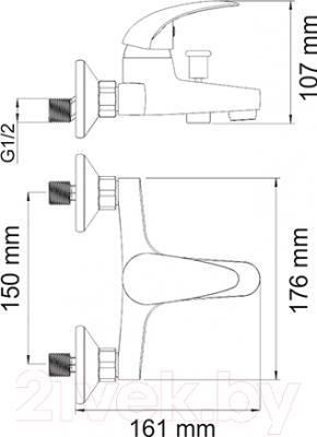 Смеситель Wasserkraft Isen 2601 - схема