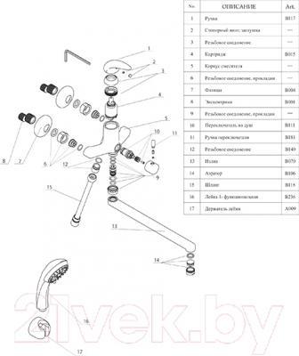 Смеситель Wasserkraft Isen 2602L - детализация