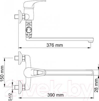 Смеситель Wasserkraft Oder 6302L