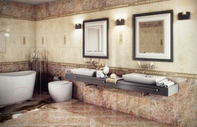 Декоративная плитка для ванной PiezaRosa Империал 123761 (250x400, бежевый)