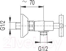 Смеситель Armatura Symetric (346-010-04)