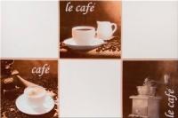 Плитка для стен кухни М-Квадрат Моноколор Кофейня 3 340063 (250x400, бежевый) -