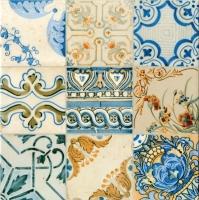 Плитка PiezaRosa Керамогранит Винтаж 727112 (330x330, синий) -
