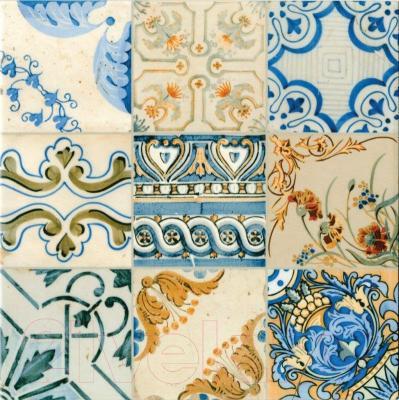 Плитка для пола PiezaRosa Керамогранит Винтаж 727112 (330x330, синий)