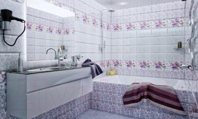 Плитка для пола ванной PiezaRosa Виолет 726872 (330x330, сиреневый)