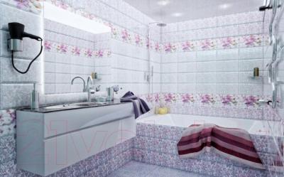 Декоративная плитка PiezaRosa Виолет Цветы 126883 (200x450, сиреневый)
