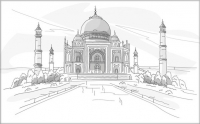 Плитка для стен ванной М-Квадрат Агра/Тадж-Махал 371508/2 (250x400) -