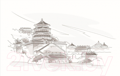 Плитка для стен кухни М-Квадрат Пекин 371508/5 (250x400)
