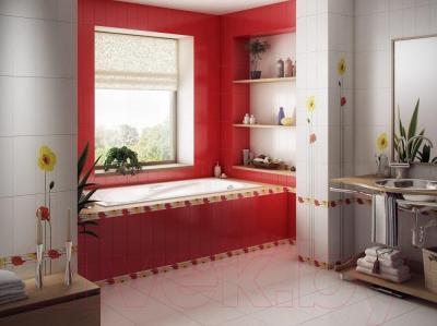 Плитка для стен ванной М-Квадрат Моноколор 120000 (250x400, белый)