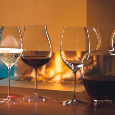 Набор бокалов для вина Riedel Veritas Cabernet/Merlot (2 шт) - бокалы Riedel (пример сервировки)