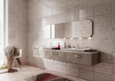 Бордюр для ванной PiezaRosa Мартиника 1 266441 (60x400, розовый)