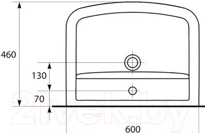 Умывальник накладной Cersanit Pure 60 60x46 (K101-011-BOX)