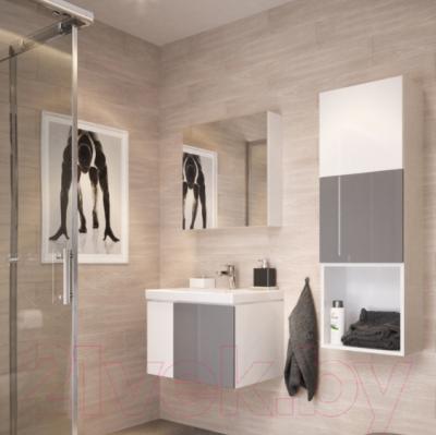 Шкаф с зеркалом для ванной Cersanit Colour 60 / S571-026 - в интерьере 1