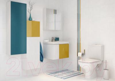 Шкаф с зеркалом для ванной Cersanit Colour 60 / S571-026 - в интерьере 2