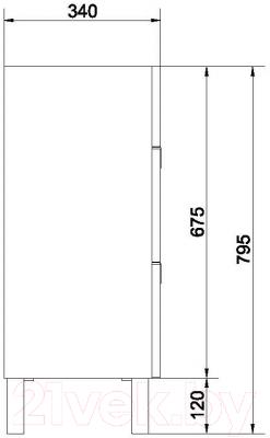 Тумба под умывальник Cersanit Dahlia S548-012 (для Carina 70)