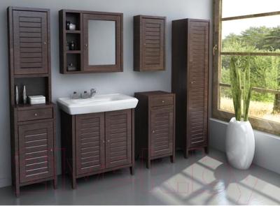 Шкаф-полупенал для ванной Cersanit Mocca / S544-002-DSM - в интерьере 1