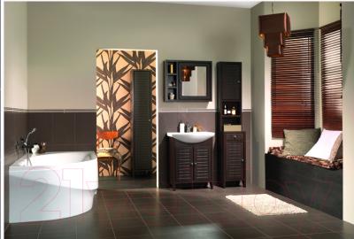 Шкаф-полупенал для ванной Cersanit Mocca / S544-002-DSM - в интерьере 2