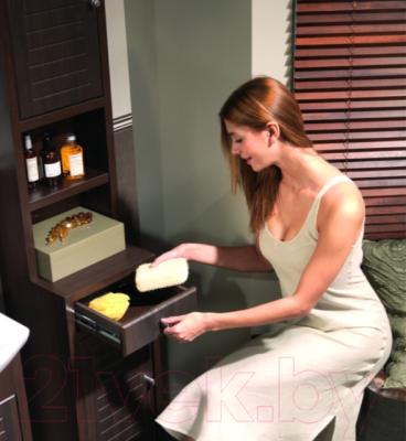 Шкаф-полупенал для ванной Cersanit Mocca / S544-002-DSM - в интерьере 3