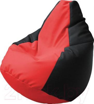 Бескаркасное кресло Flagman Груша Макси Г2.3-0916 (черный/красный)