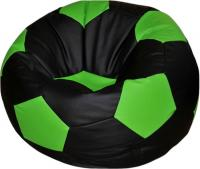 Бескаркасное кресло Flagman Мяч Стандарт М1.3-23 (черный/салатовый) -