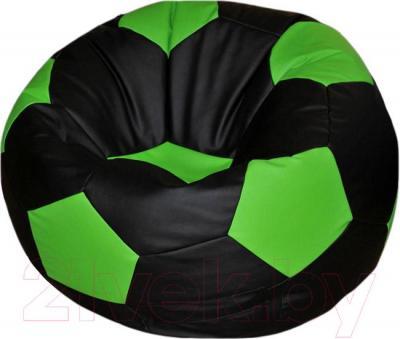 Бескаркасное кресло Flagman Мяч Стандарт М1.3-23 (черный/салатовый)