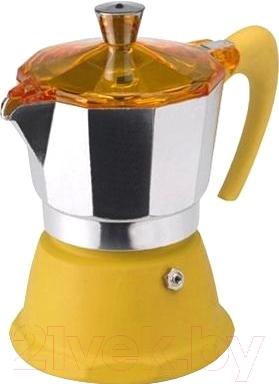 Гейзерная кофеварка G.A.T. Fantasia colori 1060.06 (желтый)