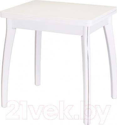 Обеденный стол Домотека Реал М-2 КМ 56х76 (белый)