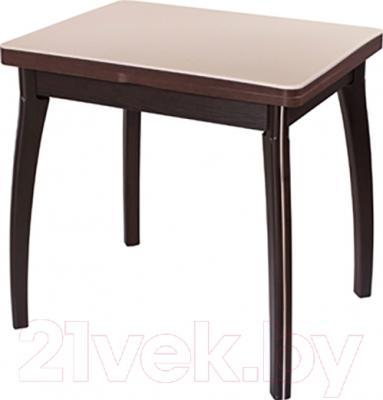 Обеденный стол Домотека Реал М-2 КМ 56x76 (бежевый/венге)