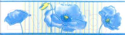 Бордюр для ванной НЗКМ Маки (200x57, лазурный)