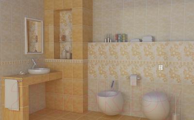 Бордюр для ванной НЗКМ Георгин (200x57, песочный)