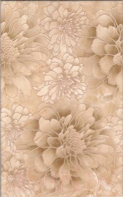 Декоративная плитка для ванной НЗКМ Глория 1 Цветы (250x400, кремовый )