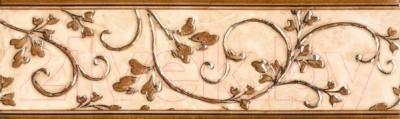 Декоративная плитка для ванной НЗКМ Камелия 1 Завитки (76x250, светло-кремовый)