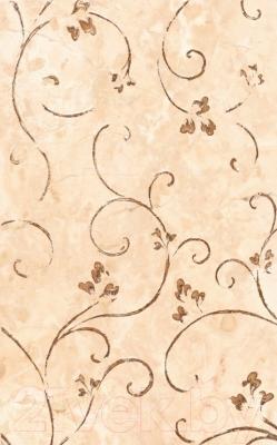 Декоративная плитка для ванной НЗКМ Камелия 1 (250x400, светло-кремовый)