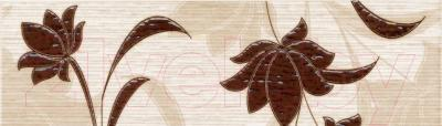 Бордюр для ванной НЗКМ Лаура 1 (57x200, шоколад)