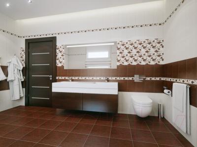 Декоративная плитка для ванной НЗКМ Лаура 1 (200x300, шоколад)