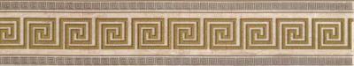Бордюр НЗКМ Травертин 1 (76x400, кремовый)