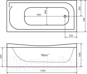 Ванна акриловая Triton Ирис 130x70