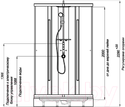 Душевая кабина Triton Орион 3 Стандарт (белый)