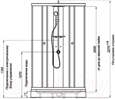 Душевая кабина Triton Гидрус 3 Стандарт (белый)