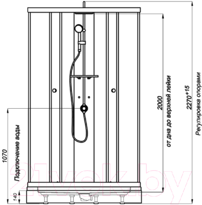 Душевая кабина Triton Гидрус 3 Стандарт (графит)
