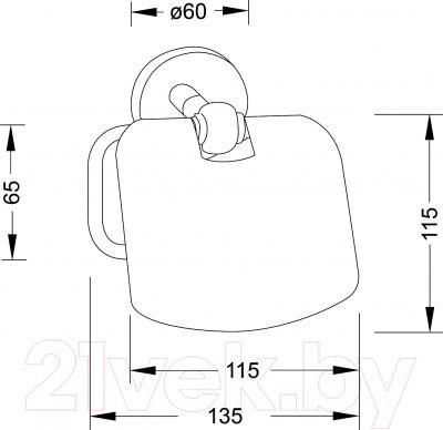 Держатель для туалетной бумаги Steinberg Series 650.2800 - технический чертеж