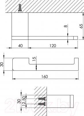 Держатель для туалетной бумаги Steinberg Series 420.2800 - технический чертеж