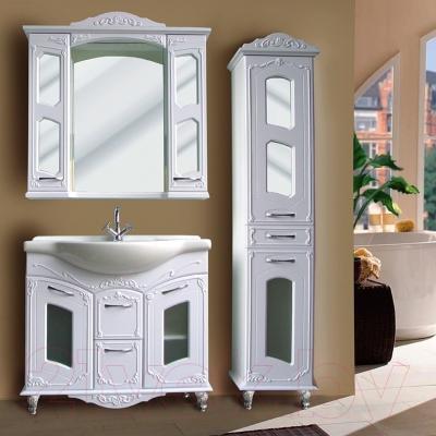 Шкаф с зеркалом для ванной Atoll Маргарита (lusido)